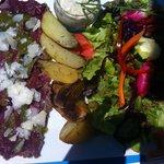 salade repas carpaccio
