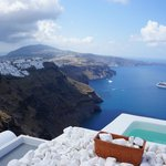 A view towards the cliff of Thira