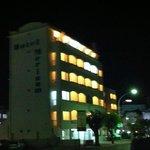 Vista notturna dell'Hotel