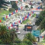 Moderna parte di Quito vista dall'hotel Standford Suites