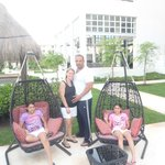 my family enjoying this awesome hotel
