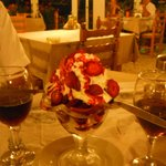 Wonderful Strawberry Ice Cream desert (3.20 euros)