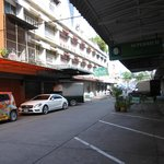 Street View behind the hotel