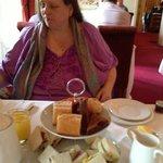 me and the tea :-) Cakes were nice too