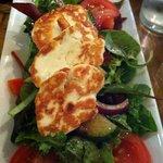 the haloumi salad