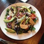 salad special, pears, blue cheese