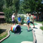 18 holes of miniature golf...very challenging!!