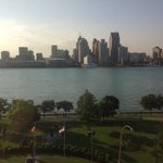 View from our room of Detroit