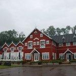 Det smukke hotel set fra havsiden