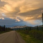 Sunset along Cassiar Hwy... approximately 11pm.