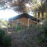 la tenda safari vista dall'esterno