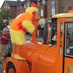 Chicken on a train