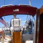Patrick's first sail.