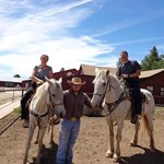 Faith & Gerry on Horseback