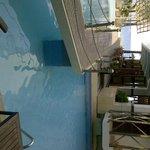 Balcony pool side view