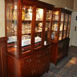 Display cases in hotel