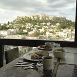 Breakfast view w/ the Parthenon in the background. Amazing!