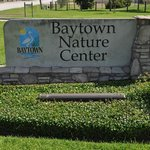 Baytown Nature Center - this is the sign at the entrance