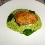 Fish main course, wonderfully presented and tasted amazing