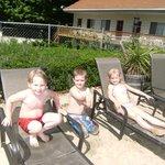 The grandchildren enjoyed the pool