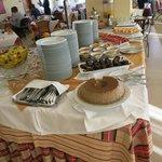 Dessert table at dinner buffet