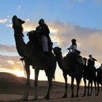 Just the four of us, heading to our overnight camp, Erg Chebbi.