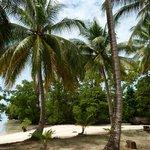 around the small island