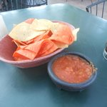 chips and extra spicy salsa Muy Bien!