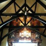 Pipe organ above the choir loft