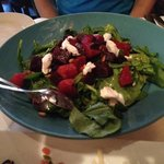 Roast beet and goat cheese salad