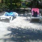 Beach chairs at the lagoon
