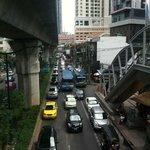 Traffic near hotel.