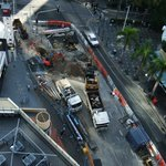 Roadworks below our apartment building