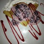 Crêpes with chantilly cream & berries