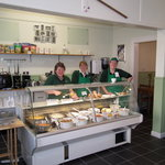 Staff, at the well stocked 'take away'