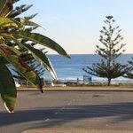 Beach and car park