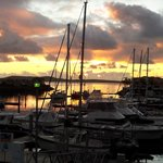 not long after sunrise... over the marina... lovely