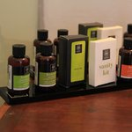 Ok, not a lot of people post bathroom amenities, but their product selection made me feel pamper