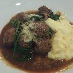 Braised Red Wine Veal Meatballs