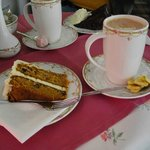 Carrot cake and banana hot chocolate