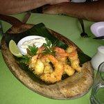 coconut crusted prawns