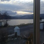 the view across the loch from our table