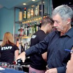 Opening Night behind the bar