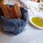 great textured bread and smoky olive oil