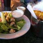 House Salad and Fried Pickles
