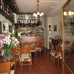 The interior of Ristorante Battello