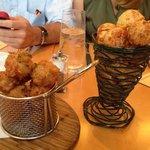 Fried Chicken Bites & Cheese Puffs