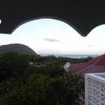 la vue depuis la terrasse couverte