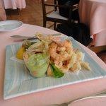 tempura style sea food