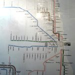 "IHSP concept of ""art""--200 8.5x12"" inkjet printouts pasted together depicting the CTA lines"